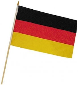 Stockflagge schwarz-rot-gold