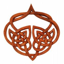 Wandbild Wandschmuck MIA Keltischer Liebesknoten aus Holz Herz